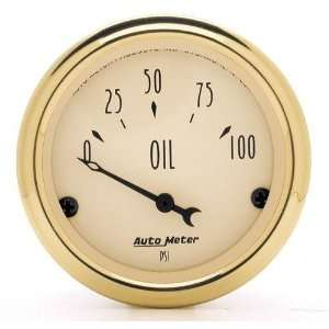 16 0 100 PSI Short Sweep Electric Oil Pressure Gauge Automotive
