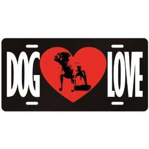 New  Love Staffordshire Bull Terrier  License Plate Dog