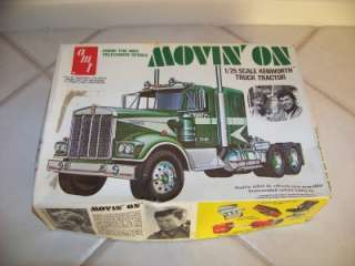 1970S NBC TV SERIES MOVIN ON KENWORTH TRUCK TRACTOR AMT 1/25 SCALE