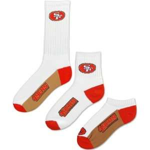 San Francisco 49ers Mens 3 Pair Sock Pack Sports