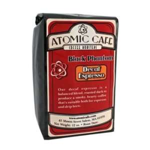 Atomic Cafe   Black Phantom Decaf Espresso Coffee Beans   12 oz