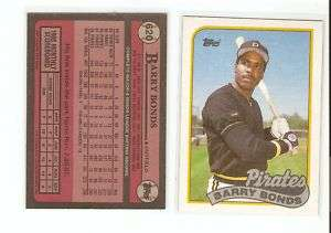 100 Barry Bonds 1989 Topps 3rd Card Pittsburgh Pirates