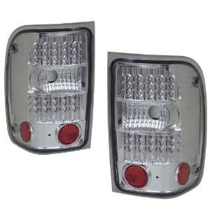 2001 2005 Ford Ranger KS LED G2 Chrome Tail Lights Automotive