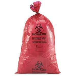 36 x 58 44 55 Gallon Red Biohazard Trash Liner Kitchen
