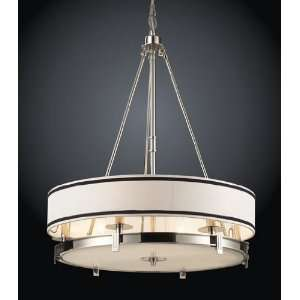 Tribeca Pendant Light In Polished Nickel Finish