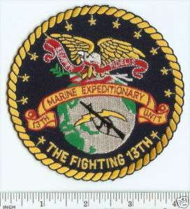 USMC Fighting 13th MEU Marine Expeditionary Unit PATCH