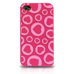 Apple iPhone 4 Hot Pink with Love Hearts Valentine