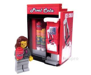 Modern Vending Cola Machine, Custom Lego, City Food 10185 Drink