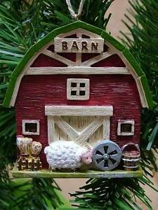 New Sheep Barn Animal Feed Hey Farm Christmas Ornament