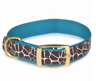 Zack & Zoey Animal Print Dog Collar Giraffe Nylon