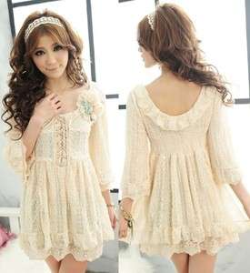 New WomenS Excellent Quality Layered Lace Design Party Mini dress