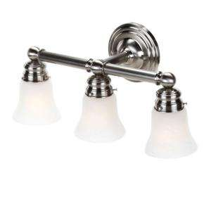 Hampton Bay 3 Light Brushed Nickel Bath Light 05381