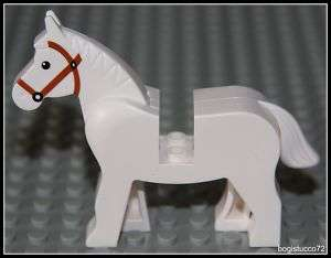 Castle x1 White Horse ★ Farm Knight Animal Minifigure NEW