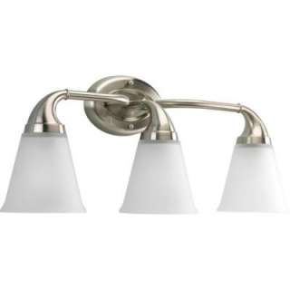 Lighting Lahara Collection Brushed Nickel 3 light Vanity Fixture