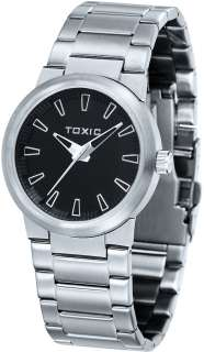 Men Black Stainless Steel Fashion Watch Toxic TX30024 A