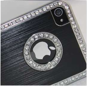 BLACK LUXURY DIAMOND BLING CASE COVER DESIGNED FOR IPHONE 4/4S