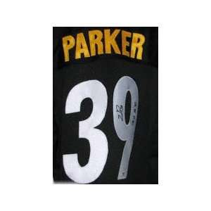 Willie Parker Autographed Custom Black Jersey with SB XL
