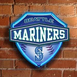 MLB Seattle Mariners Baseball Official Lighted Neon Shield Wall/Window