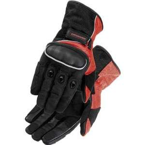 Street Bike Racing Motorcycle Gloves   Red/Black / X Large Automotive