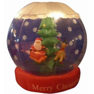 6.5 Airblown Inflatable Animated Christmas Carousel