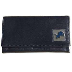 Detroit Lions Genuine Leather Womens Female Clutch