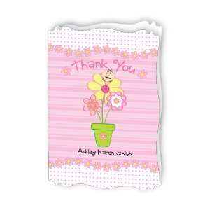 Personalized Baby Thank You Cards With Squiggle Shape Toys & Games