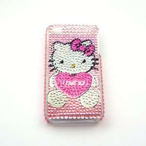 Hello Kitty pink heart Rhinestone Bling Crystal back cover case
