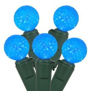 Set of 50 Sky Blue LED G12 Berry Fashion Glow Christmas