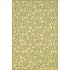 Veranda Green Floral Indoor/Outdoor Rug Size 3 3 x 5 3