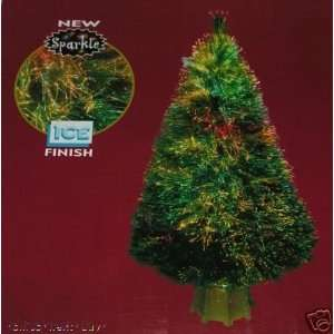 48in Kaleidoscope Ice Finish Fiber Optic Christmas Tree