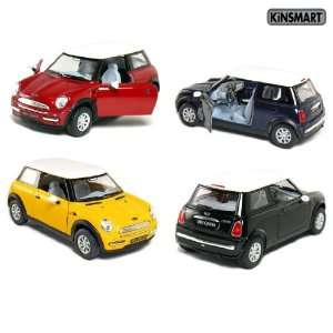 of 4 5 Mini Cooper 128 Scale (Blue/Green/Red/Yellow) Toys & Games