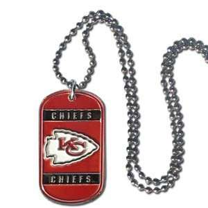 NFL Kansas City Chiefs Dog Tag Necklace