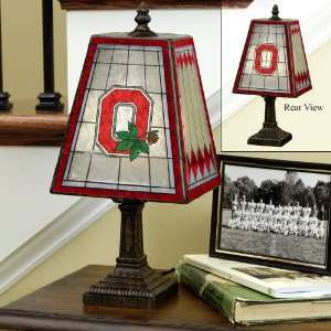 14 Art Glass Table Lamp Ohio State