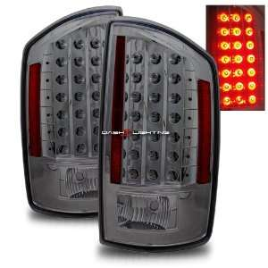 07 08 Dodge Ram LED Tail Lights   Smoke Automotive