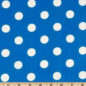 44 Wide Negative Big Dot Turquoise Fabric By The Yard