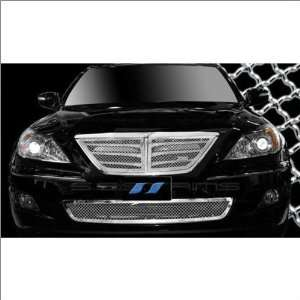 SES Trims Chrome Mesh Upper Lower Grille Combo 09 11 Hyundai Genesis