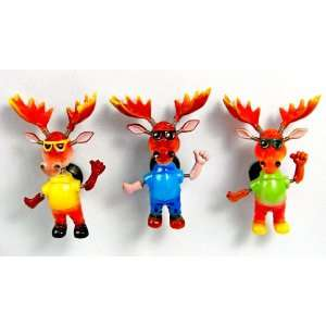 Cool Moose   Refrigerator Bobble Magnet (Set of 3)