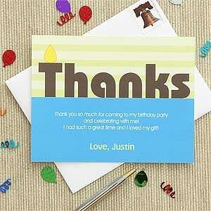 Personalized Thank You Cards   Birthday Wishes