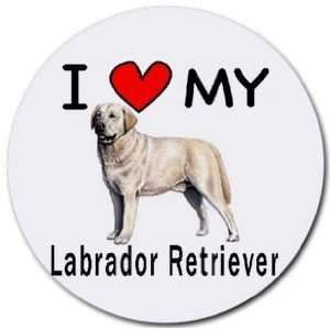I Love My Labrador Retriever Round Mouse Pad Office