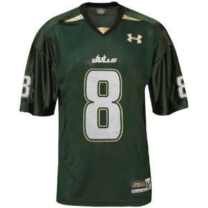 Under Armour South Florida Bulls #8 Green Replica Football Jersey
