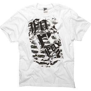 Fox Racing Berlin T Shirt   Large/White Automotive
