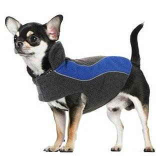 Kakadu Pet Explorer Fleece Reflective Dog Coat, 10, Sea (Blue)