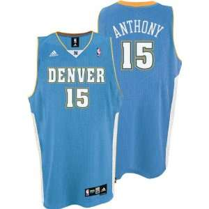 adidas Blue Swingman #15 Denver Nuggets Jersey