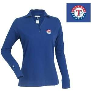 Texas Rangers Womens Fortune Polo by Antigua   Dark Royal Extra Large
