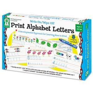 Write On/Wipe Off Print Alphabet Letters Activity Set