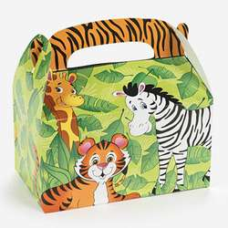 12 Zoo Animal Treat Boxes Birthday Party Favors