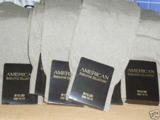 American executive mens dress socks 60 pair $600 value