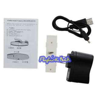 Home Spy Hidden Clothes Hook Nanny Camera mini DV DVR Motion Detection