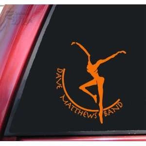 Dave Matthews Band Vinyl Decal Sticker   Orange