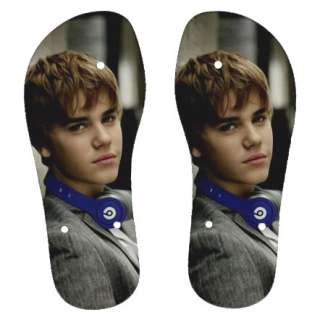 Justin Bieber Girl Kid Boy Shoes Flip Flop Slipper D